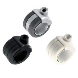 Roulette double galet blanc gris ou noir