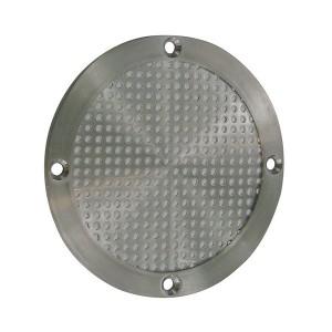 Grille d'aération rond en inox 100 ou 150 mm