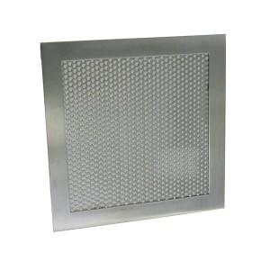 Grille d'aération carré 150 mm inox