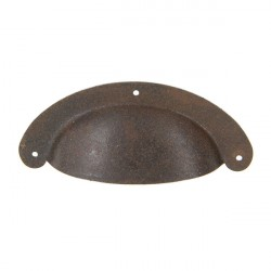 Poignée coquille style vintage effet rouille RUSTY
