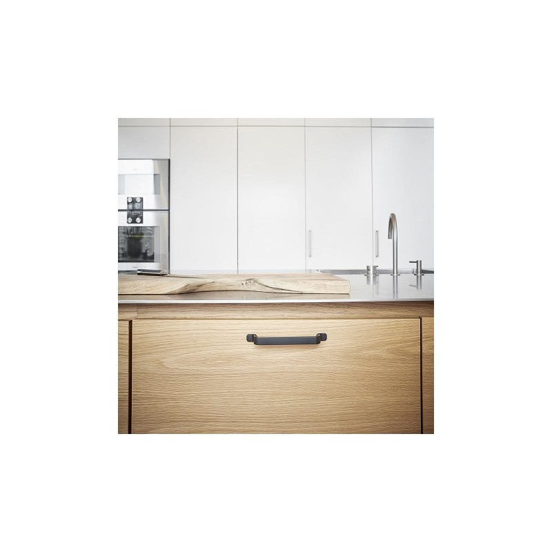poign e de meuble noir mat rio de furnipart. Black Bedroom Furniture Sets. Home Design Ideas