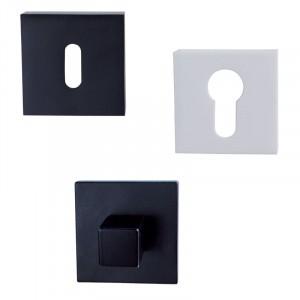 Rosaces carrées pour poignée de porte LOGGIC