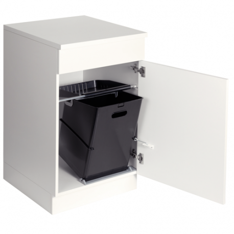 poubelle cuisine basculante 1 bac 35 litres. Black Bedroom Furniture Sets. Home Design Ideas