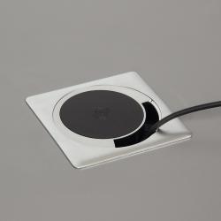 Chargeur sans fil / passe-câble encastrable
