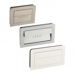 Poignée de meuble à encastrer Emotion look inox, aluminium ou blanc