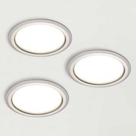 Kit 3 spots LED 230V diamètre 78 mm