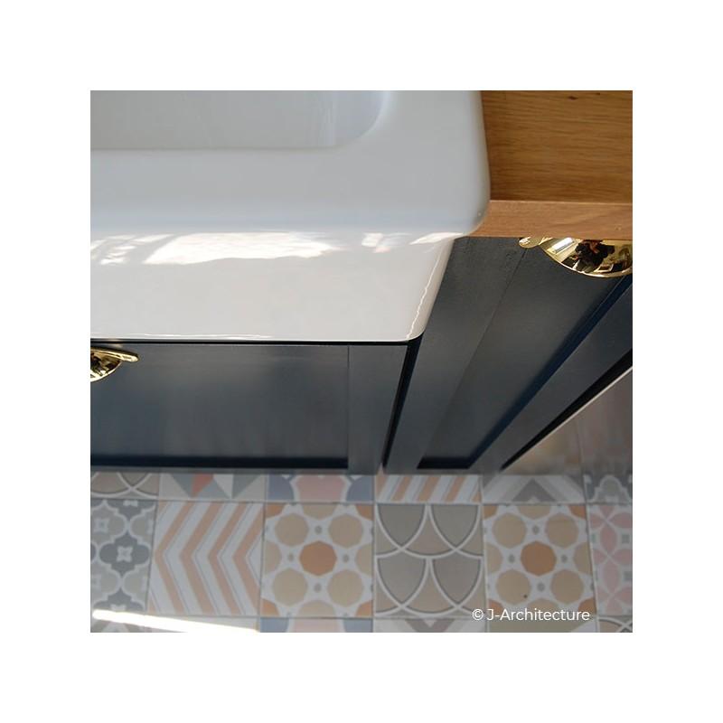 poign e pour meuble coquille laitonn e. Black Bedroom Furniture Sets. Home Design Ideas