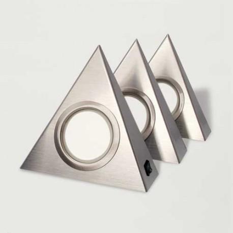 Kit 3 spots LED DELVIN triangle avec interrupteur