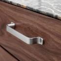 Poignée de meuble look inox RIO de FURNIPART