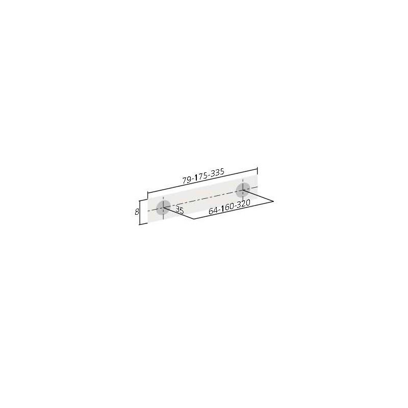 poign e de meuble noir curve. Black Bedroom Furniture Sets. Home Design Ideas