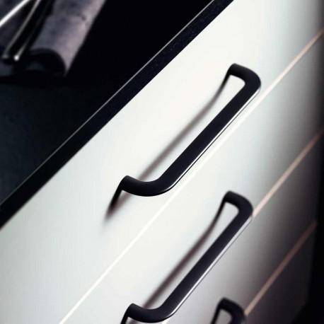Poignée de meuble look aluminium CURVE