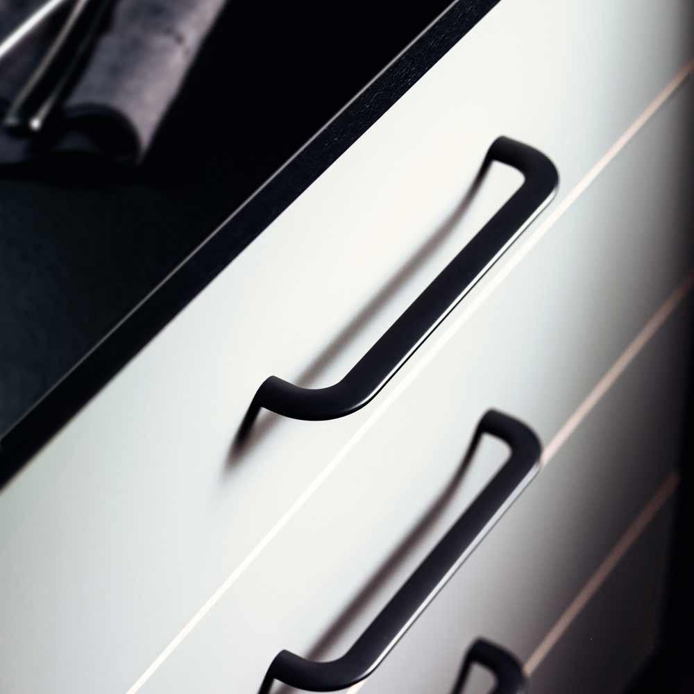Poignet De Meuble De Cuisine poignée de meuble noir curve