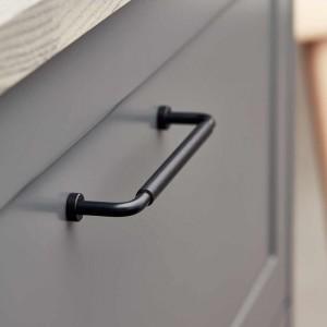 Poignée de meuble cuir / inox noir LOUNGE de FURNIPART