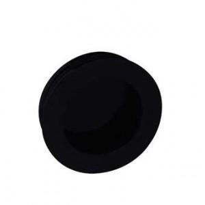 Poignée de meuble cuvette laiton ronde ESCALE noir