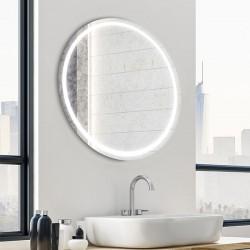 Miroir rond tactile ECLIPSE avec bandeau lumineux LED