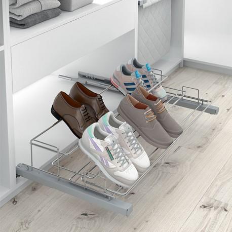 Porte-chaussures coulissant 2 rangées