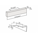 Poignée de meuble cuisine profil en aluminium