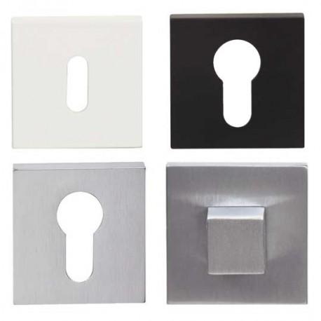 Rosace carré pour poignée de porte LOGGIC