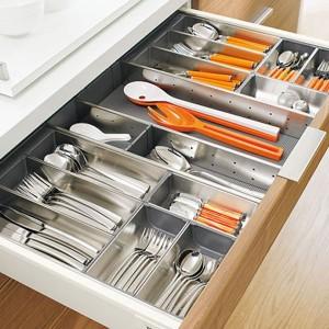 Range couverts pour cuisine en bois plastique ou inox i - Rangement ustensile cuisine ...