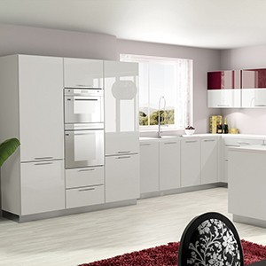 Fa ades sur mesure pour meuble de cuisine blanches - Facade cuisine laque ...