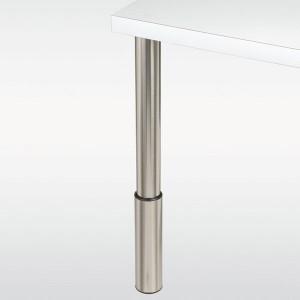 Pieds de Support de Cadre carr/és 70//80//90 110cm Support Table Bureau conf/érence avec Tapis de Sol Pieds de Table industriels