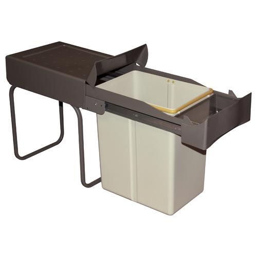 salle de bain poubelle int/égr/ée avec couvercle pour porte de placard de cuisine toilettes JIXUN Poubelle /à suspendre avec couvercle coulissant caf/é chambre /à coucher salon