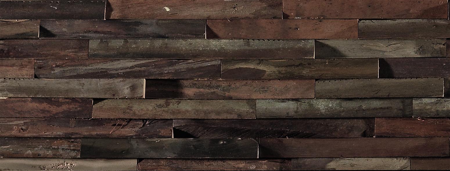 Panneau mural d coratif brooklyn en bois naturel de noyer - Panneau mural decoratif isolant ...