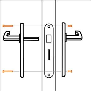 comment poser une poign e de porte guides et conseils pour l 39 am nagement de la maison. Black Bedroom Furniture Sets. Home Design Ideas