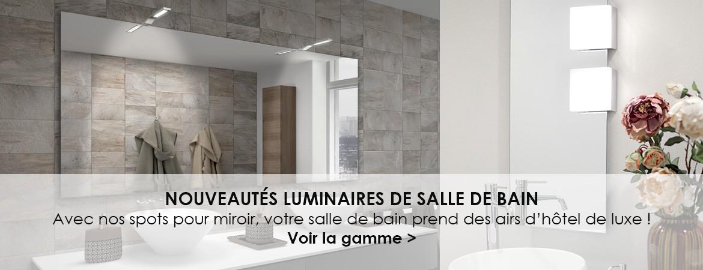 Nouveautés luminaires de salle de bain