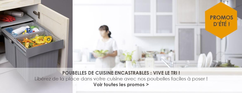 Poubelles de cuisine encastrables : vive le tri !