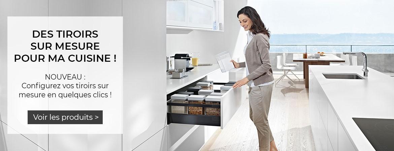 Nouveautés de la rentrée : nos tiroirs sur mesure Blum